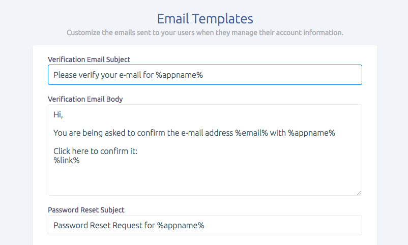 Customize Parse Server Emails with SashiDo Dashboard