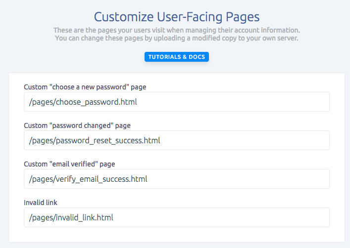 Update your custom user facing pages