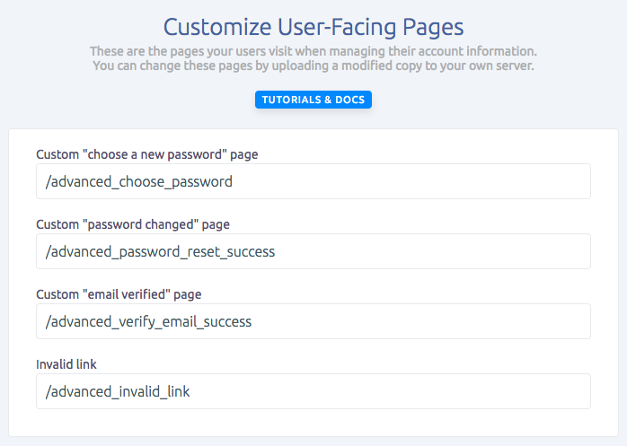 Update your advanced custom user facing pages