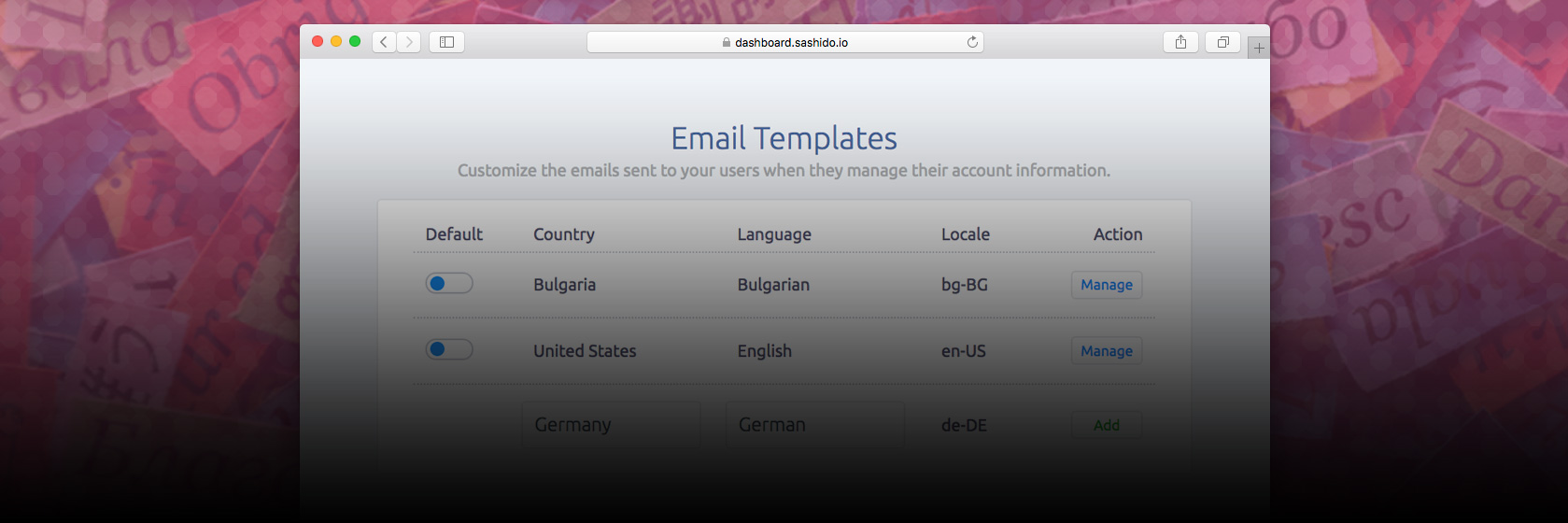 Setup your Multilingual Email templates and User-Facing pages