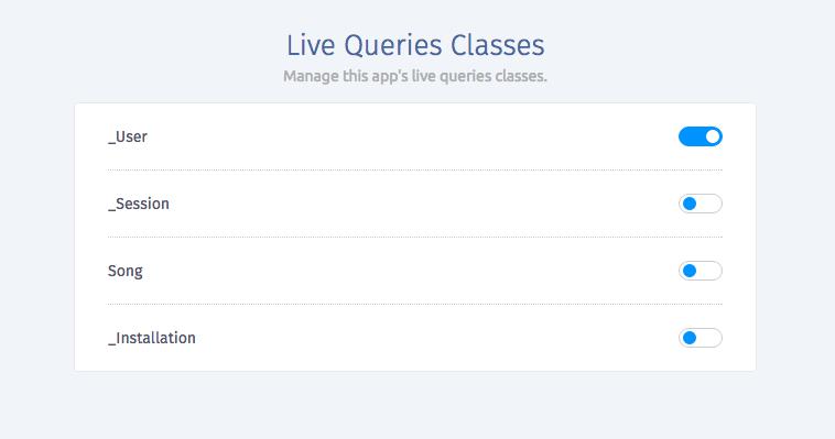 live-queries